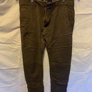 Men's grey slim fit flex chino pants size W30 L30
